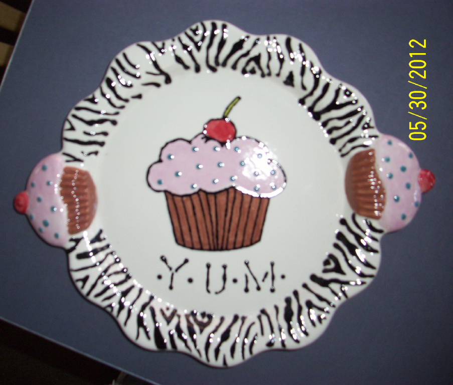 Birthday Plate, Fused Glass