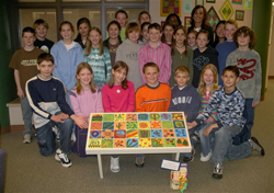 Tile Bench at Trail Blazer Elementary